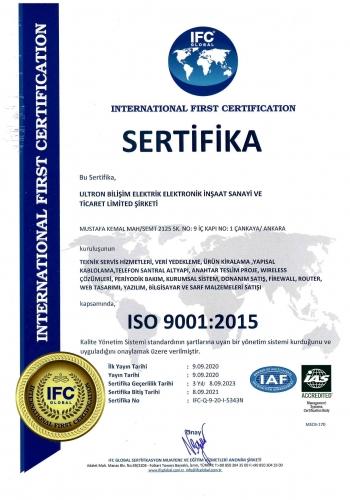 ULTRON ISO 9001